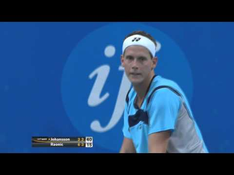 Joachim Johansson - Milos Raonic Stockholm Open 2013 (Second run) HIGHLIGHTS HD