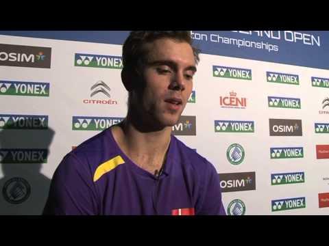 Interview - Jan O Jorgensen beats Chen Jin at 2013 All England