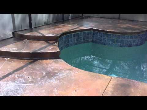 Patio Tones Swimming Pool Deck Coating   YouTube