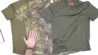 "Видео обзор футболок CoolMax Kryptek Highlander / MTP / Khaki и TopCool Olive от ""Chameleon""."