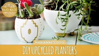 Diy Upcycled Thrift Store Planters - Hgtv Handmade