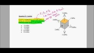 Mohr's Circle 3d, Absolute Maximum Shear Stress - Exam Problem, F12 (raspberry)