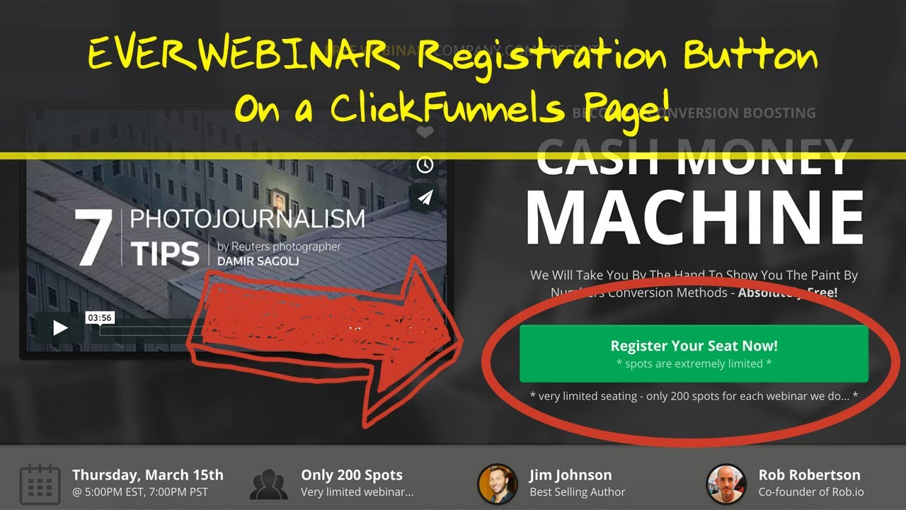EverWebinar and ClickFunnels - Custom CTA Button Tutorial