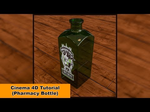 Pharmacy Bottle (Cinema 4D Tutorial)