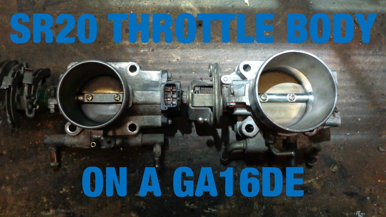 sr20de throttle body upgrade for ga16de [ 1280 x 720 Pixel ]