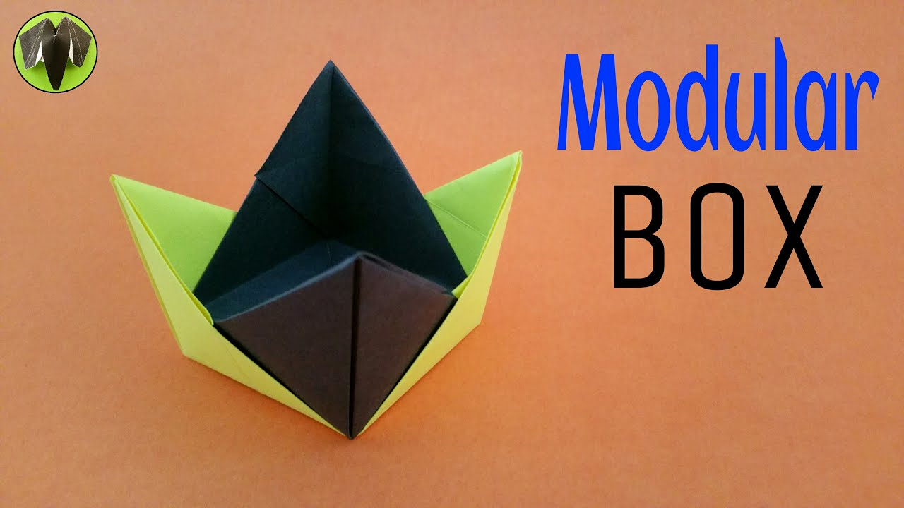 Learn how to make a modular origami cube by 12units. Video ... | 720x1280