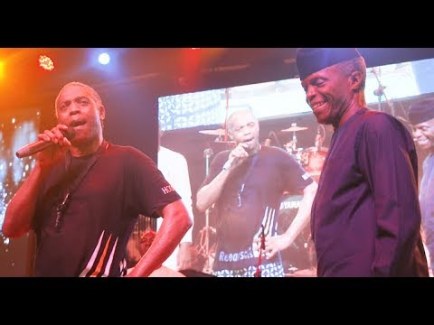 VP Yemi Osinbajo visits Fela's shrine to pray for people…As Femi Kuti Slams Buhari Govt In His Front