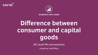 Difference between Consumer and Capital Goods