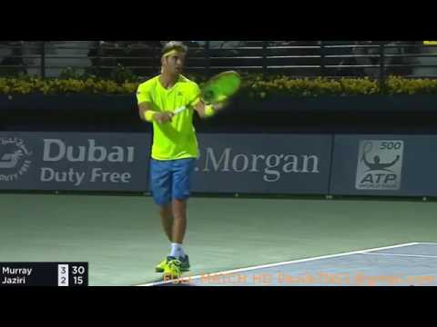 Andy Murray Vs Malek Jaziri 2017 Dubai Highlights