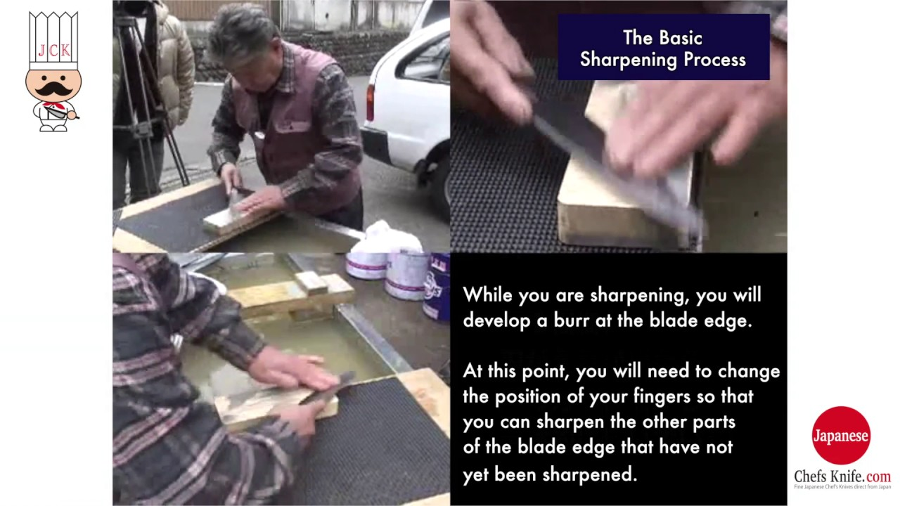 how to sharpen a 70 30 japanese knife by king japanese kitchen japanese kitchen knife how to sharpen hand sharpening process with whetstone