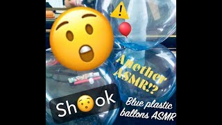 BLUE PLASTIC BALLOONS! (Asmr)