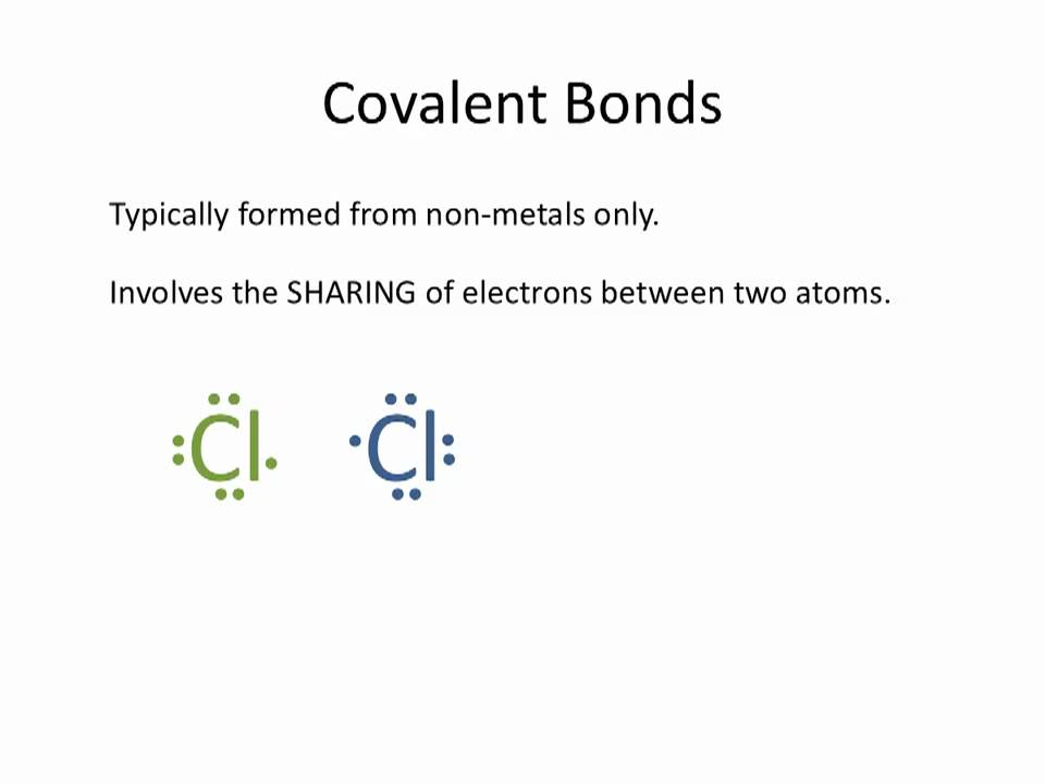 Ionic Vs Covalent Bonding Chemistry Tutorial Youtube