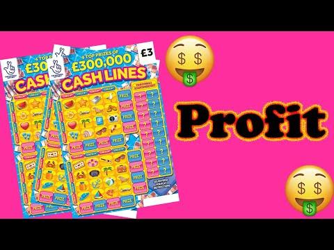 💥 New £3 Cash Lines Scratchcards 🤑 Profit 🤑 UK scratch cards 😀 New Cashlines 😀