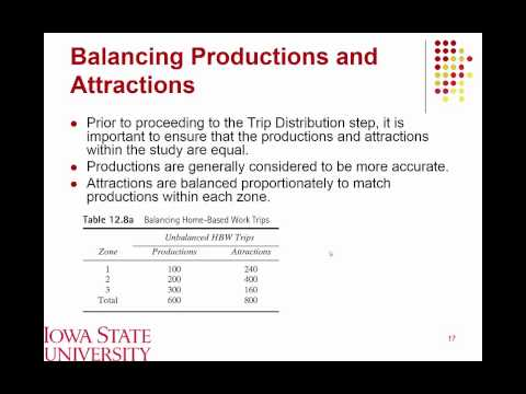 Lecture 02 Trip Generation and Trip Distribution