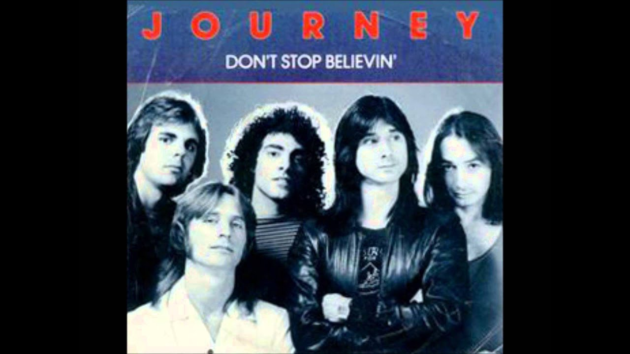 Afbeeldingsresultaat voor journey don't stop believing video
