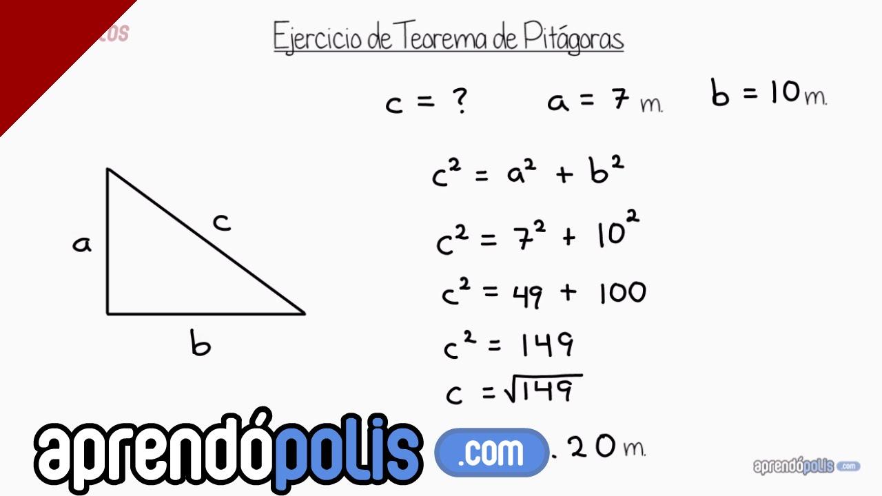 ejercicio 1 de teorema de pit225goras youtube