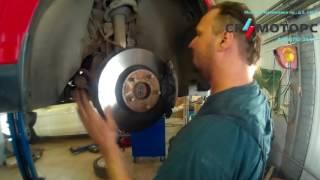 Замена тормозных колодок на Volvo V50