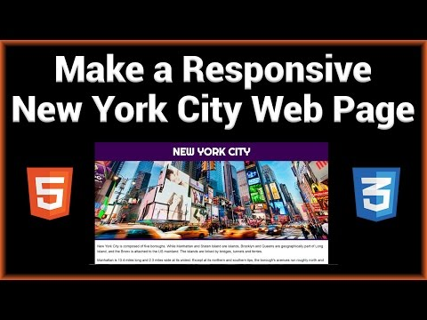 Make A Responsive New York City Web Page Using HTML5 / CSS3