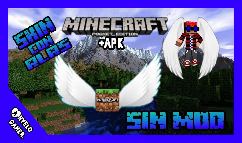 Descargar MINECRAFT PE Con Alas Para El Skin Apk X YouTube - Skins para minecraft pe con alas