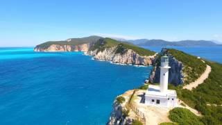 Capo Lefkas, Lefkada Greece island by skydrones.ro 4K