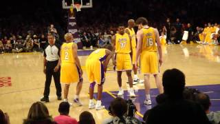 LA Lakers vs OKC Thunder - 12/22/2009 - Kobe getting off the floor after injuring himself