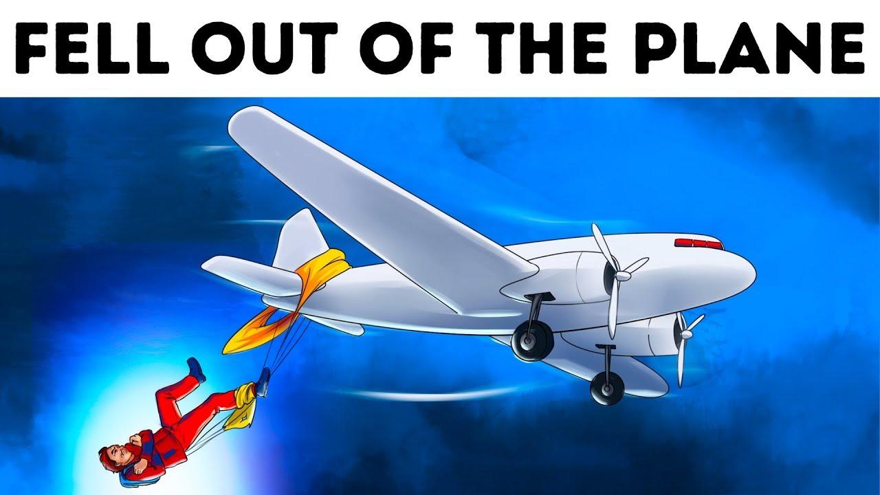 Zwei Piloten retteten einen Mann, der sich aus einem anderen Flugzeug heraus fühlte + video