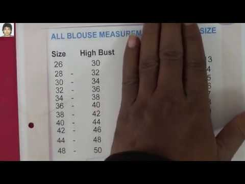 Blouse Size Chart I Readymade Blouse Size Chart Prasanta Kar Youtube