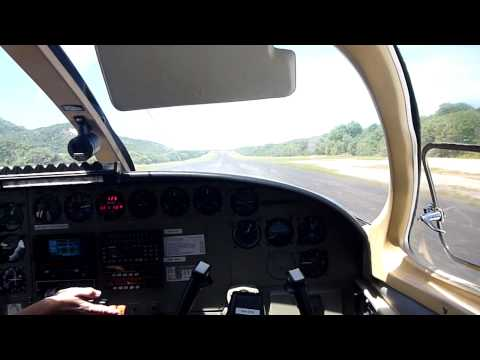 Takeoff from Lizard Island on Hinterland Cessna 402