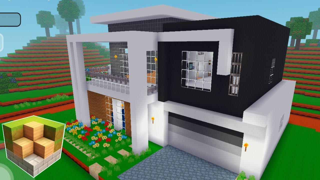 Block Craft 3d Mobile Gameplay Modern House Youtube