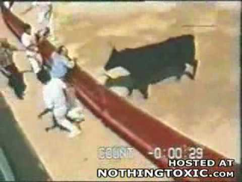 Download Man Gored by a Bull in the Butt