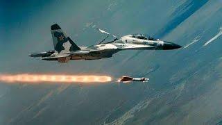 Истребитель СУ-27 перехват самолета-разведчика ВВС США