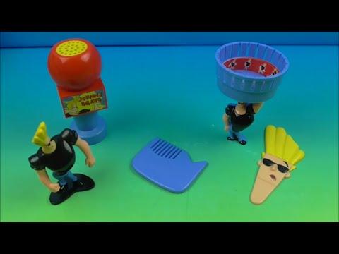2001 Cartoon Network Johnny Bravo Set Of 4 Subway Kids Meal Toys