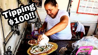 TIPPING $100 Dollars - ULTIMATE Mexican Street Food - Money Sent From SUBSCRIBERS!!