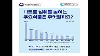 [식품안전체험관] 식품통계로 알아보는 나트륨 줄이기