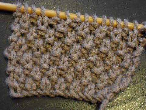 Le Point De Ble Tres Facile Debutant Moss Stitch Special