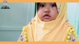 รีวิวชุดเด็กหญิงมุสลิมสีเหลืองทอง ผ้าคลุมฮิญาบผู้หญิงมุสลิม