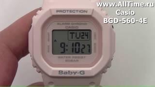 Обзор. Женские наручные часы Casio BGD-560-4E с хронографом