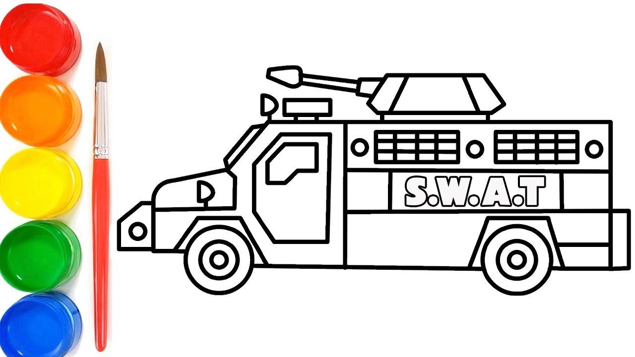 Cara Menggambar Mobil Polisi Anti Peluru | Mewarnai Gambar ...
