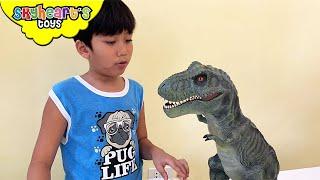 Feeding my pet Dinosaurs - Skyheart Toys trex toys for kids dino jurassic pets