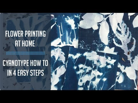 Real Floral Prints at home: Cyanotype tutorial in 4 easy steps
