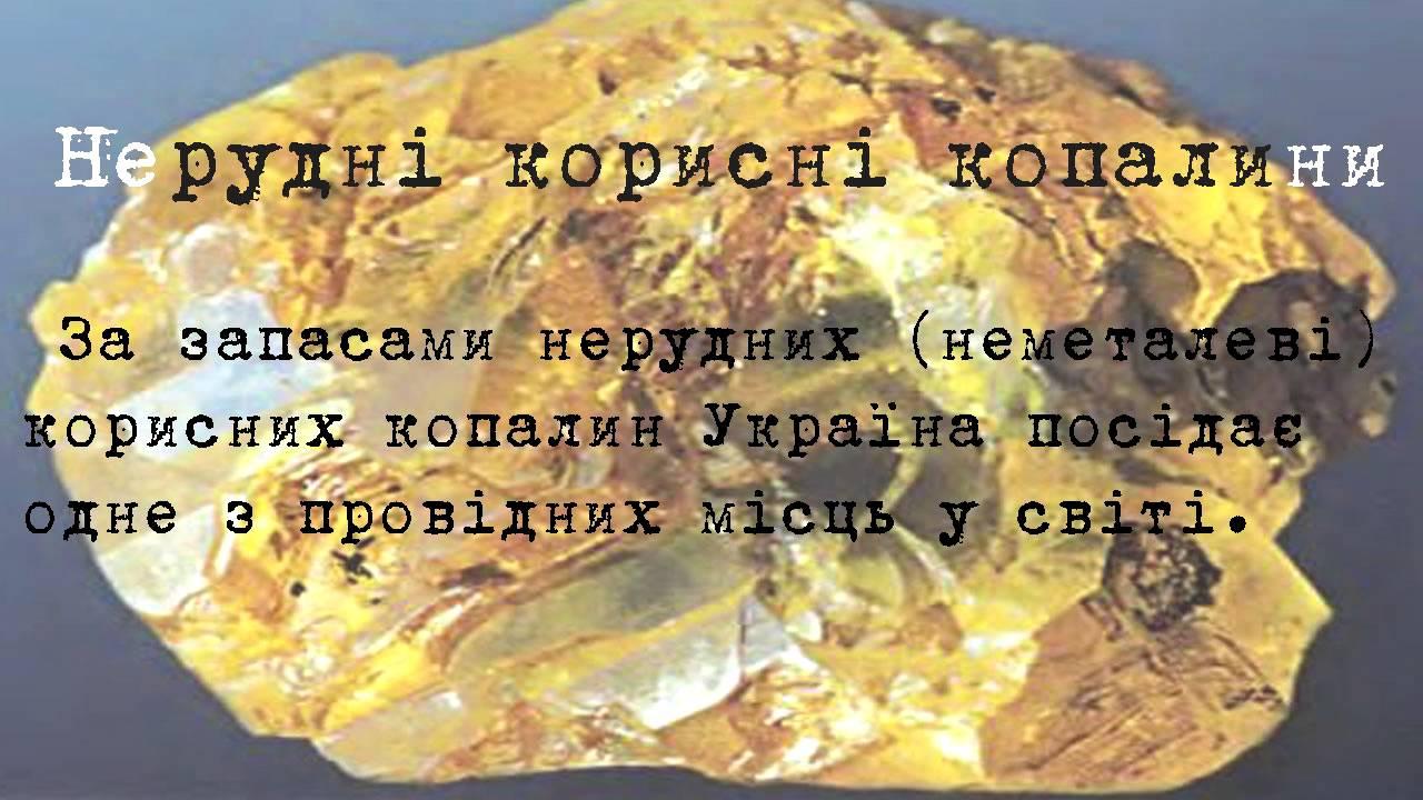 Реферат проект корисні копалини України  Реферат проект корисні копалини України