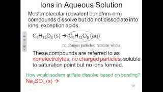 CHE 133 HW 13-14 - Molecules and ions, Molecular and Ionic Compounds
