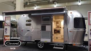First Look 2020 Airstream Caravel 19cb Corner Bed Walk Through Video Youtube