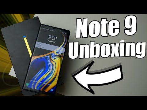 Samsung Galaxy Note 9 Unboxing & First Impressions