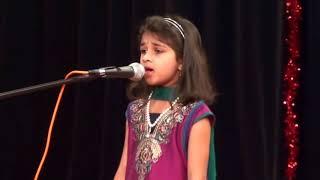 """Shreya Madhu sings """"Hindustanavu Endu Mareyada Bharata Ratnavu Neenaagu"""""""