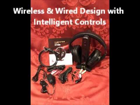 6d9f0c7ba5e ARTISTE Wireless Stereo TV Headphones, D1 2.4GHz Optical Fiber TV Headset