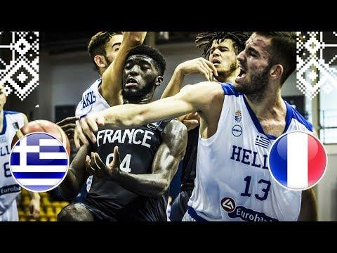 Greece v France - Full Game - Round of 16 - FIBA U18 European Championship 2018