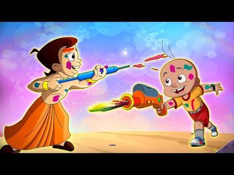 Chhota Bheem aur Mighty Raju ke sang Holi