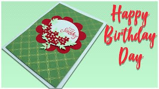 Happy Birthday card | birthday card with flowers | best birthday gift | diy birthday gift