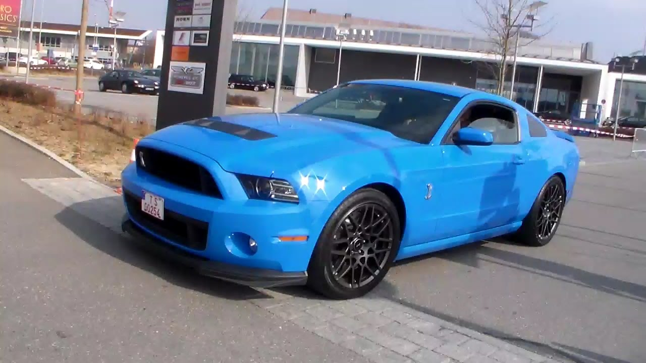 Baby blue ford mustang shelby gt500 sound hd